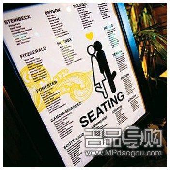 十款创意座位卡彰显婚礼主题(4)