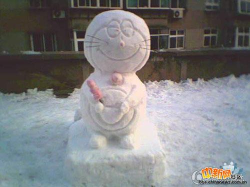 冬天里超可爱的雪人