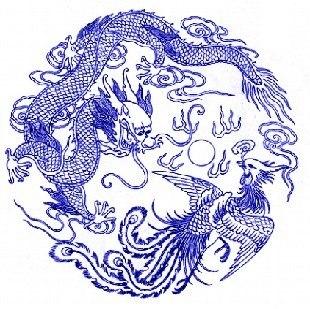 青花瓷瓶子简笔画