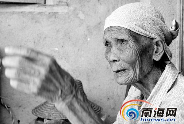 林亚金老人生前生活照(2013年7月12日摄)
