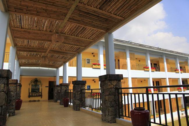 图为儋州森林客栈富于原生态气息的酒店一角. 记者 王霞 摄