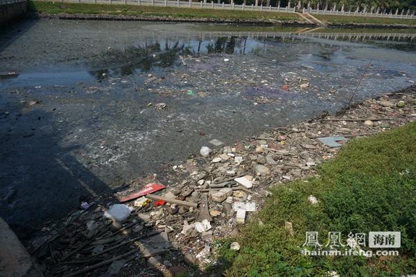 曾经美丽的海南省海口市鸭尾溪,近年来由于种种原因造成水体脏臭,垃圾