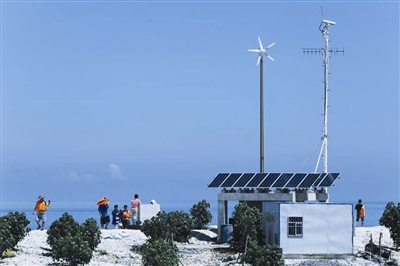 西沙原生态海岛鸭公岛,岛上渔民已经使用上太阳能发电,海水淡化等先进
