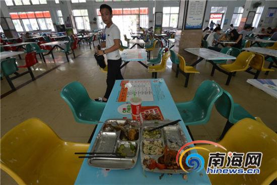 高校食堂    学生每天剩饭剩菜至少装满满一