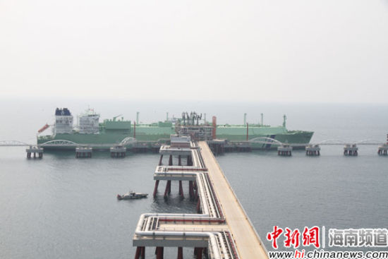 海南lng项目迎来第三船气