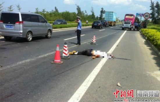 海口白驹大道发生交通事故
