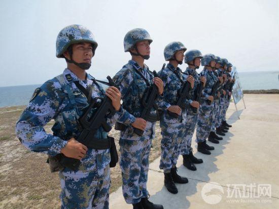 """今年中国海军成立67周年的宣传主题是""""永兴岛海军官兵""""."""