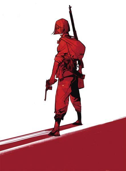 红色英雄人物简笔画