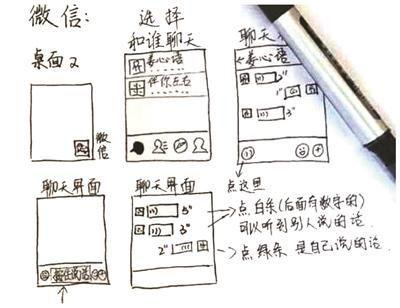 """姜心语和她的手绘微信操作""""说明书"""". 当事人提供"""