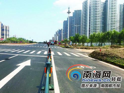 粤海大道已完成非机动车道建设。