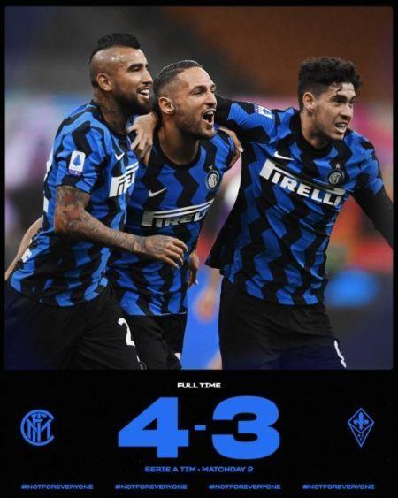 国际米兰4:3佛罗伦萨 收获意甲开门红