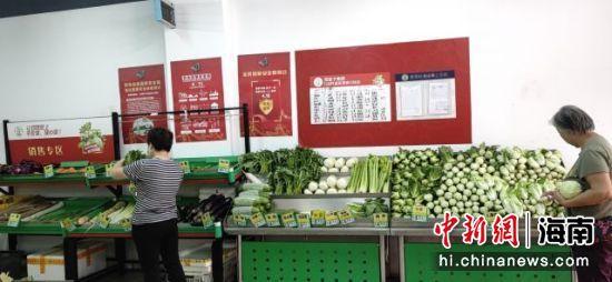 """海口市""""菜篮子""""中秋平价菜供应充足 蔬菜投放量加大"""