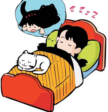 天气冷睡觉图片可爱