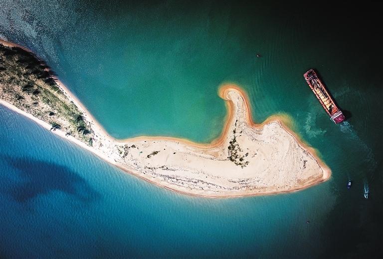 航拍海口如意岛