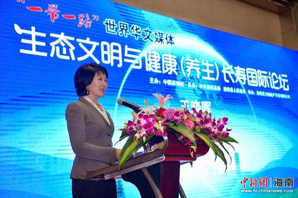 图为中国新闻社总编辑王晓晖致辞.骆云飞 摄
