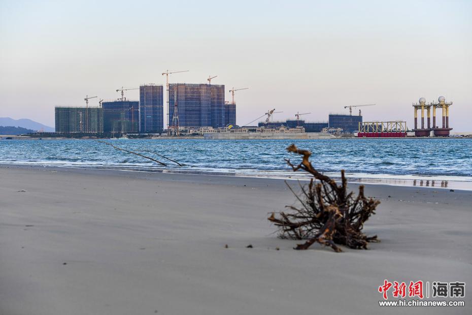 海南万宁未批先建的月岛围填海工程已停止建设(3)