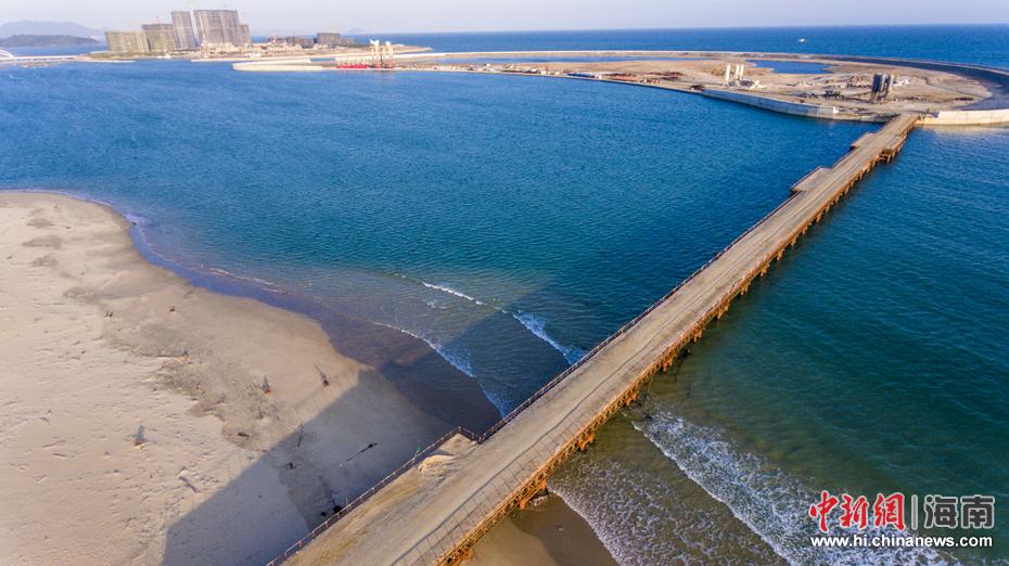 海南万宁未批先建的月岛围填海工程已停止建设(7)