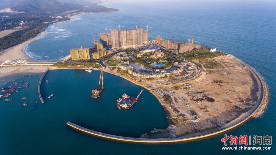 海南万宁未批先建的月岛围填海工程已停止建设(8)