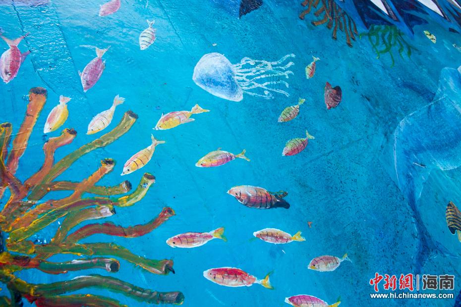 """""""海洋世界""""3d立体斑马线.凌楠 摄"""